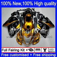 Wholesale 1997 Suzuki Fairing Kit - Body Bodywork For SUZUKI Hayabusa Gold black GSXR1300 96 07 1996 1997 1998 15HM24 GSXR 1300 GSXR-1300 GSX R1300 1999 2000 2001 Fairing kit