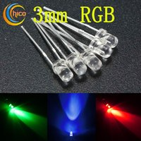3mm led diodo rgb Fast RGB Flash lenta RGB Flash rosso blu verde arcobaleno Multi color luce emettente diodo LED Lampada