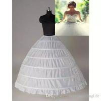 Wholesale Garments Dress - Super Cheap Ball Gown 6 Hoops Petticoat Wedding Slip Bridal Underskirt Layers Slip 6 Hoop Skirt For Quinceanera Dress