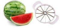 cuchillos de melón al por mayor-Cuchillo cortador de sandía Cantalupo Slicer Divisores de corer Divisor de fruta de acero inoxidable Cocina Barra de comedor Gadgets prácticos Gadgets