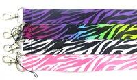 charme de zebra venda por atacado-Atacado-Frete grátis 200 Pcs / lotes por atacado Mix Zebra Colar Strap Lanyards Telefone Celular PDA ID IDENTIFICAÇÃO Encantos L095