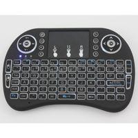 bluetooth für andriod großhandel-Hohe Qualität Mini I8 + Plus Hintergrundbeleuchtung Drahtlose Tastatur Fly Air Maus Touchpad Fernbedienung Bluetooth Für PC Pad Andriod TV Box 20 stücke