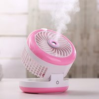Wholesale Battery Humidifier - Summer Humidifier Mini Foldable Fan USB Rechargeable Water Mist Fan with Lithium Battery Office Home Round Table Pedestal Cooling Fans