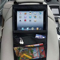 Wholesale Milking Tablets - Wholesale- Top Selling Universal Back Car Seat Organizer Holder Auto Car Seat Organizer Holder Multi-Pocket Tablet Wallet Case Bag