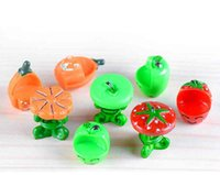Wholesale Wholesale Resin Pumpkins - Mini Resin Fruit Table and Chairs Set Pumpkin Apple strawberry DIY ornaments assembly MicroLandscape Moss bottle Resin Crafts decor material