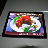 Wholesale a2 light box resale online - Blank A2 LED Ultra Slim Magnetic Frame Illuminated Light Box Poster Display