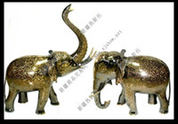 Wholesale The anniversary of Pakistan special offer inch bronze elephant rich color animal bow looked up to