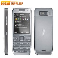 Wholesale Gsm 3g Support - Original E52 Nokia Mobile Phone Bluetooth WIFI GPS GSM WCDMA 3G bar refurbished Cell Phone Support Arabic   Russian Keyboard