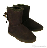 Wholesale Bgg Short - 2016 wholesale! hot New Fashion Australia classic short BGG winter boots real leather Bowknot women's snow boots boot shoes with gift