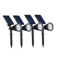 Wholesale Generation Energy - 3TH Generation 4LEDs Solar Power Energy Spotlight Outdoor IP44 Waterproof Lawn Landscape Yard Decoration Lamps Solar night Light