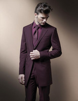 Wholesale Three Piece Dress For Males - 2016 The Groom Dress For The Wedding Of Male Man Suit Groom Tuxedos Jacket + Pants + Vest