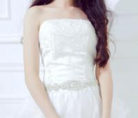 elbiseler için boncuklu tasmalar toptan satış-Düğün Için sıcak Satış Pretty Sashes Kristal Rhinestone Boncuklu Kemer Gelin Sashes Akşam Balo Elbiseler Gelin Aksesuarları Için Uygun