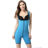 Wholesale One Piece Shaper Suits - Wholesale- Women Body Shaper Both Sides One Piece Full Body Suit Butt Lifter Fitness Slimming Fitness Ultra Sweat Corset