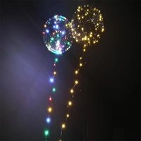 Wholesale Flashing Balloon Decorative Party - Hot Gift Luminous Led Transparent 3 Meters Balloon Flashing Wedding Party Decorations Holiday Supplies Color Luminous Balloons Always Bright