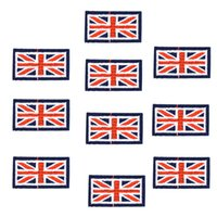 Wholesale Iron Patches Badge Flag - 10PCS flag badge embroidery patches for clothing applique iron on patches sewing accessories badge stickers on clothes iron-on patch DIY