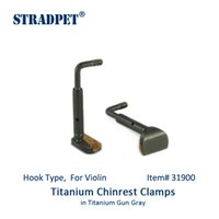 Wholesale violin types resale online - STRADPET Titanium Chinrest Clamps Chinrest Screws in Titanium Gun Gray and Polished Bright Hook Type for Violin