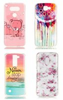 Wholesale Rubber Owl Case - For LG G5,K4,K8 MOTO G4 X Play Plus Flower Owl Soft TPU+IMD Rubber Silicone Case Feather Sea Dreamcatcher Elephant Wave Smile Cartoon Skin
