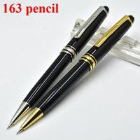 Wholesale 2017 classic black resin Mechanical Pencils school office stationery luxury Writing business Gift pens M163