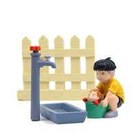 Wholesale Ponyo Figure Pvc - 1pcs Ponyo on the Cliff Sink Faucet Fence Sousky Seagal PVC Action Figures Collection Model Toys Gifts for Garden Home Decor