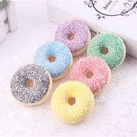 mutfak oyuncağı ücretsiz toptan satış-6.5 cm Kawaii Nadir Squishy renkli donut buzdolabı mıknatısları mix renk Toptan Ücretsiz Kargo yumuşacık paketler çocuklar mutfak ...