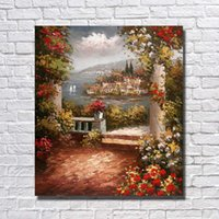Wholesale hand painted scenery oil painting - Hand painted Wall Hanging Sea Scenery Oil Painting Decorative Pictures On Canvas Beautiful Wall Pictures for Living Room