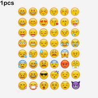 Wholesale Face Album - 1pcs cut sticker 48 classic Emoji Smile face stickers for notebook albums , message Twitter Large Viny Instagram Classical toys