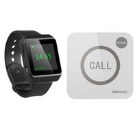 SINGCALL Wireless Restaurant Calling Service System 1 Big Screen Watch e 1 botão Touchable