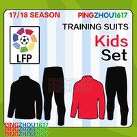 Wholesale Wholesale Soccer Suits - 2018 New kids MESSI Soccer Training Suits Uniforms Shirts Football Camiseta de Futbol O.DEMBELE SUAREZ boys Survetement Tracksuits free DHL