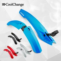Wholesale Bicycle Mudguards - CoolChange Flectional Bike MTB Front Rear LED Mudguard Set 26 Bike Bicycle Fender plastic Quick Release with led light