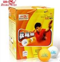 Wholesale Table Tennis Training Balls - Wholesale- 100 balls Double Fish 1 star 40mm Table Tennis Pingpong Balls Training balls Tenis De Mesa 82008