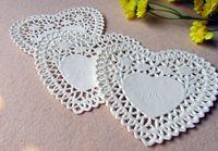 white heart lace doilies venda por atacado-Atacado-4