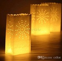 Candle Bag outdoor tealight lanterns - Bursting Sunray Wedding Candle White Bag Lantern Outdoor Tealight holder gift Hot Sales Good Quality Brand New