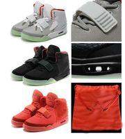 Wholesale Athletic Shoe Bag - Kanye West 2 SP Red October Baskeball Shoes With Original Packages Dust Bag Mens Sneakers Kanye West 2 Boost Glow Dark Outdoor Athletic