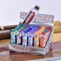 Wholesale Lip Smackers Cola - New Beauty Change Color Cola Lipstick sweet cute Moisturizer Faint scent Lip Balm Lipstick Brand Makeup Lip Smacker
