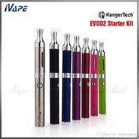 Wholesale double evod kits electronic cigarette resale online - 100 Original Kangertech EVOD Starter Kit Kanger EVOD Electronic Cigarette Kits With mha EVOD Battery and ML EVOD BDC Tank