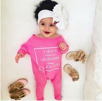 tulum uzun kollu kış toptan satış-Kaliteli sevimli bebek kıyafeti Yeni Sonbahar kış pembe Kız Sıcak Bebek Romper uzun kollu Tulum moda Bodysuit Pamuk sevgililer Giysileri