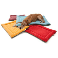 Wholesale Dog Kennel Cushions - 50Pcs High Grade Soft Polar Fleece Cozy Pet Dog Crate Mat Kennel Cage Pad Bed Pet Cushion 6 Colors F734