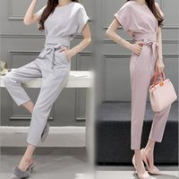 Wholesale Han Short Sleeve Suit - Wholesale-2016 The summer new han edition two-piece foot fashion suits cultivate one's morality pants