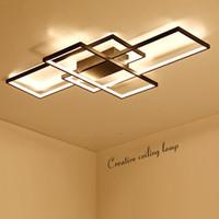 modern alüminyum avizeler toptan satış-Yeni Varış Siyah / Beyaz LED Tavan Avize Oturma Çalışma Odası Yatak Odası Için Alüminyum Modern Led Tavan Avize