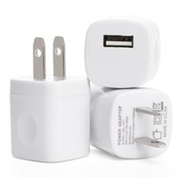 Wholesale mini ac adapter - 5V 1A US USB AC Wall Charger Home Travel Charger Adapter Mini USB charger For Smartphones mp3 pc