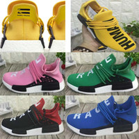 Wholesale Women Trainning Shoes - With Box Original Best NMD Boost Trainning Shoes HUMAN RACE Pharrell Williams 2016 Men & Women Cheap Fashion Running Sport Shoes Sneakers
