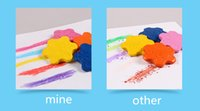 Wholesale crayon arts online - DHL New Arrival Baby Crayons Star Shape Colors Safty Edible Erasable Cratons For Children