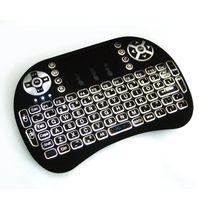 teclado de color android al por mayor-RII I8 Air Fly Mouse retroiluminación de color blanco negro 2.4G Mini teclado inalámbrico con Touchpad para S912 S905X Android TV Box