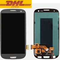 Wholesale Galaxy S3 Color Screen - Grey Color Samsung Galaxy S3 lll i9300 i9305 i535 i747 T999 LCD Digitizer Screen Replacement No Dead Pixels Free DHL Shipping