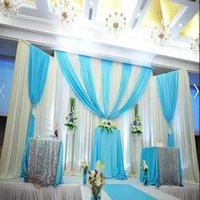 Wholesale Cheap Christmas Curtains - European Fashion Wedding Supplier Custom Wedding Backdrop Swag Party Curtain Stage Performance Background Drape Cheap