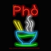 Wholesale Decorative Tube Bulb - Wholesale-Super Bright Pho Neon Sign Neon Bulb Real Glass Tube Handcrafted Light Sign Store Decorative Personalized 17x14