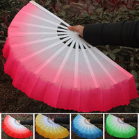 Wholesale Belly Silk Fan - New Chinese silk dance fan Handmade fans Belly Dancing props 6 colors available Drop shipping Hot sale