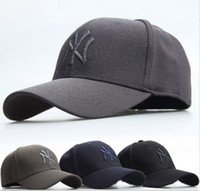 Wholesale Ny Snapback Adjustable - NY YANKEES Cap Baseball Hat Unisex Curved Flex Snapback Sport Golf Hip-Hop Hat Adjustable Outdoor Hiking Camping Quick-drying Cap Sun Hat