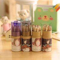 Wholesale Watercolor Pencil Sets - Wholesale-2016 New Arrival 12 PCs Lot Mini Watercolor Pencil Faber Castell Lapis Pencil With Sharpner Kawaii School Stationery