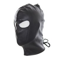 Wholesale Adult Latex Hood - Adult Games Patent Leather Latex Sex Mask Erotic Toy Fetish Bondage Head Halloween Wet Look Sexy Mask Hood for Women and Men 17901